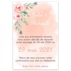 Carton report de mariage champêtre pêche