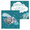 Faire-part de naissance nuages bleu