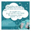 Faire-part de naissance nuages bleu verso