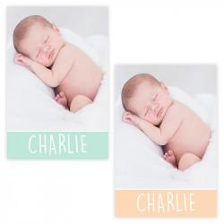 Faire-part de naissance Charlie