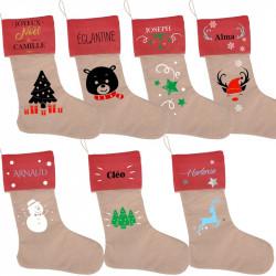 Chaussette de Noël à suspendre entièrement personnalisée