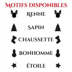 Motifs de personnalisation de bonnet de Noël
