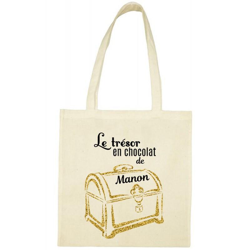 Tote Bag de Pâques personnalisé - Coffre aux trésors