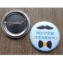 Badge mariage super témoin homme