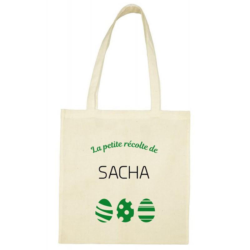 Tote Bag de Pâques personnalisé - Petite récolte vert