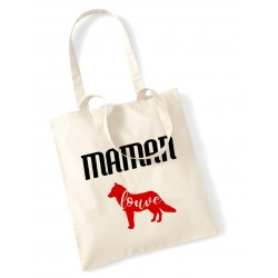 Tote Bag Maman louve rouge