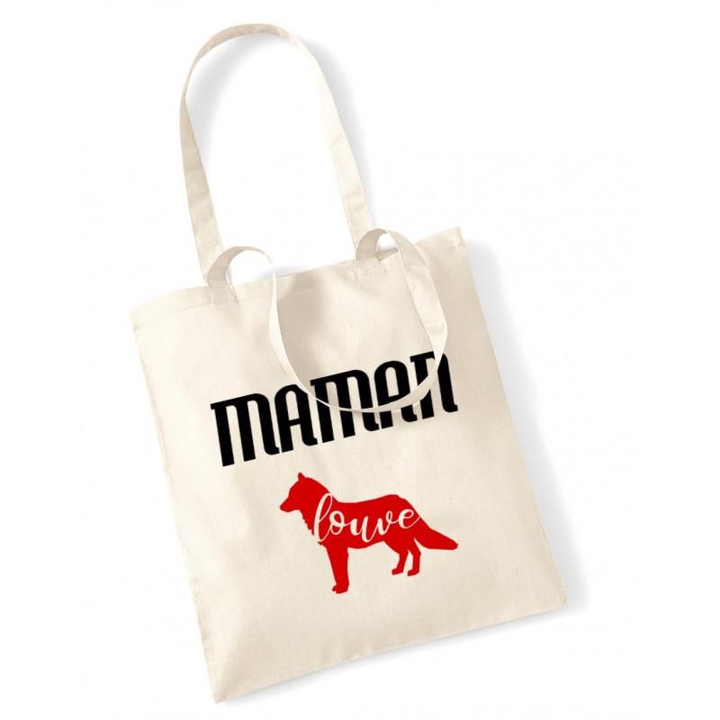 Tote Bag Maman louve rouge