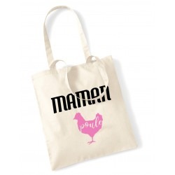 Tote Bag Maman poule rose