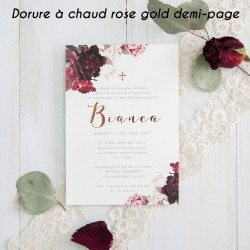 Impression dorure à chaud rose gold demi-page