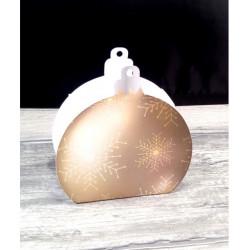 Boule de Noël personnalisée bleue et argent